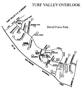 Turf Valley Overlook Map